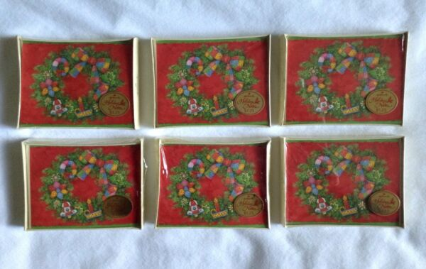 6 Vintage Boxes Hallmark Christmas Note Cards New Old Stock