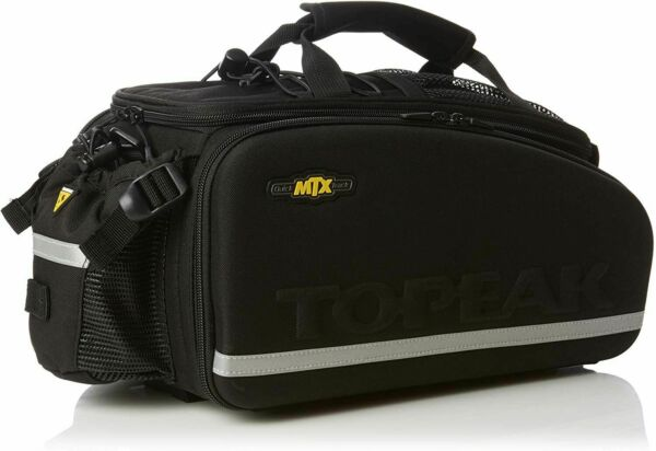 Topeak MTX EXP Bike Trunk Bag Black One Size Large Capacity W Shoulder Strap $84.95