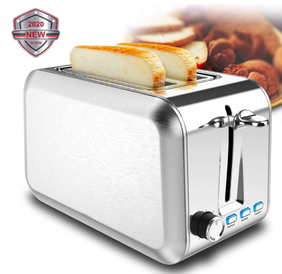 2 Slice Toaster Stainless Steel Toaster Best Rated Prime Toasters with 7 Shad...