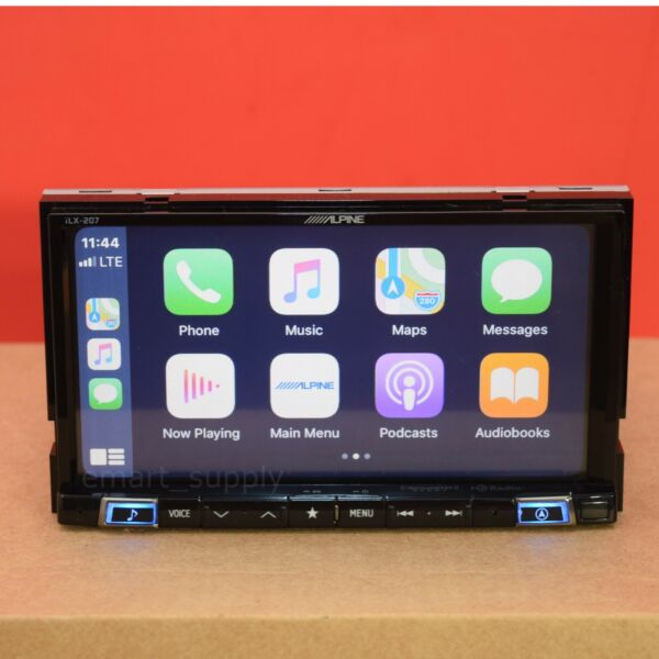 Alpine ILX 207 2 DIN In Dash 7#x27;#x27; iPhone CarPlay Android Touch Screen Receiver