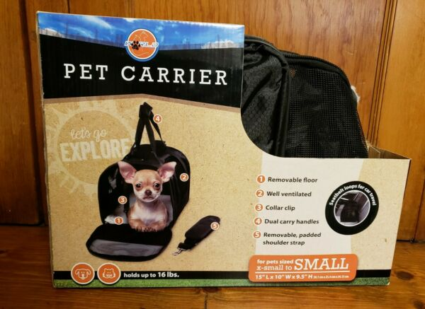 NEW World Pet Small Carrier for Dog or Cat Sized XS to Small 16 lbs 15x10x9.5 in $8.99