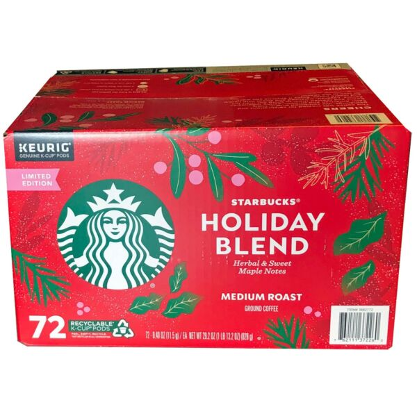 🔥Starbucks Holiday Coffee Blend 72 k cups Edition 2021 exp 04 2022🔥