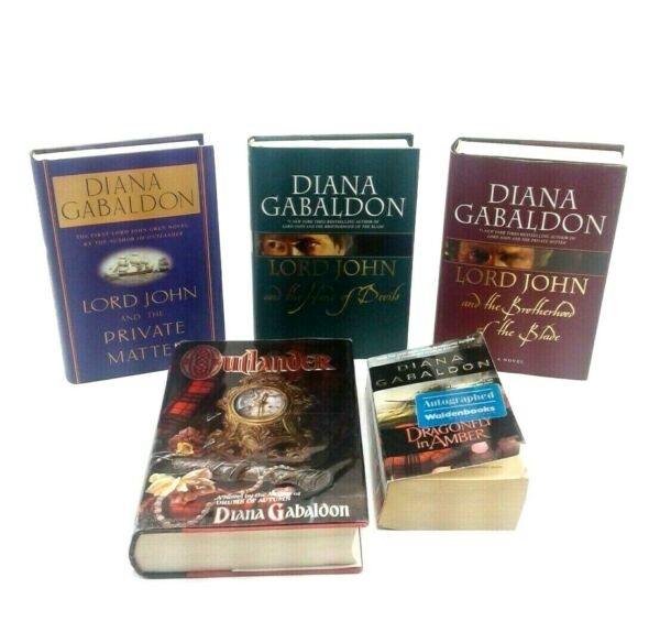Lot Of 5 Books By Diana Gabaldon Lord John Series Outlander amp; Dragonfly In Amber