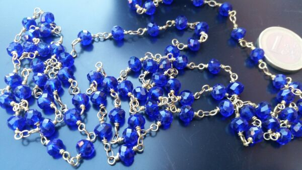 Chain Stories Glass Rosario 0 3 16in Blue Dark Necklace CAD 17 Bracelets $5.93