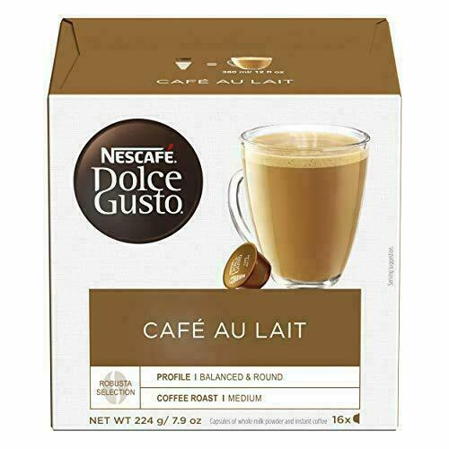 Nescafe Dolce Gusto CAFE Au Lait Pack of 3 Total 48 Capsules EXP:11 2020