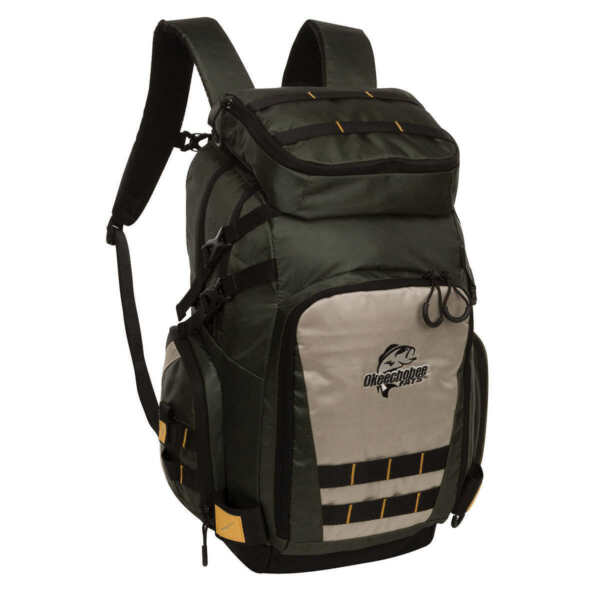 Okeechobee Fats Tackle Backpack with Two Utility Boxes Dual Rod Holders