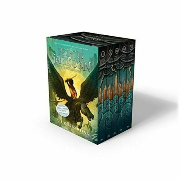 Percy Jackson and the Olympians 5 Book Paperback Boxed Set new covers w poster