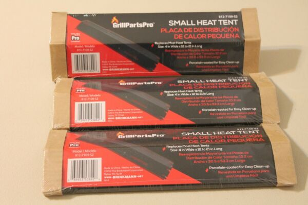 Brinkmann 3 UNIVERSAL BBQ 4quot; Heat Tent Black Porcelain Coated Grill Parts Pro $18.00