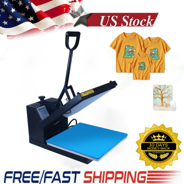 15x15quot; Clamshell Heat Press Machine Sublimation Digital Transfer for DIY T Shirt $125.17