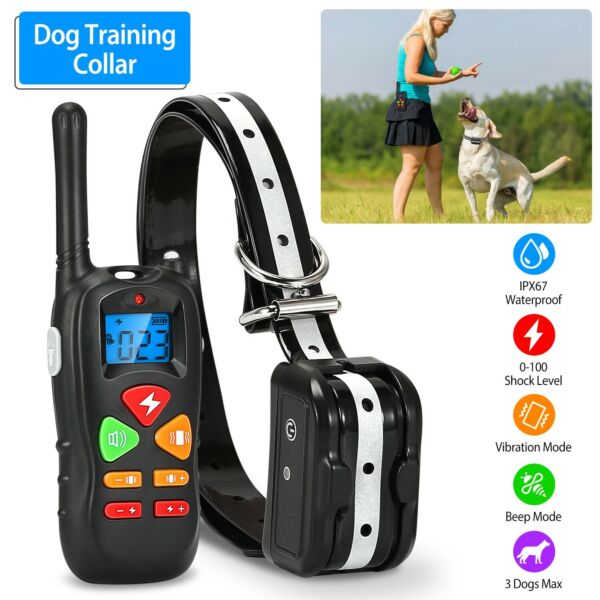 Waterproof Dog Shock Collar With Remote Electric for Large 1640ft Pet Training $28.23