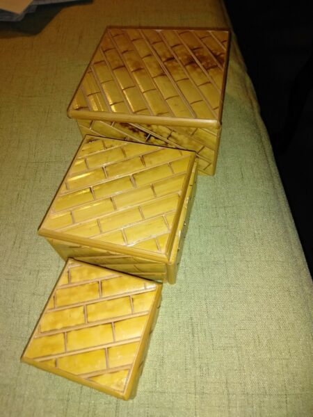 3 Piece Wooden Boxes With Lids