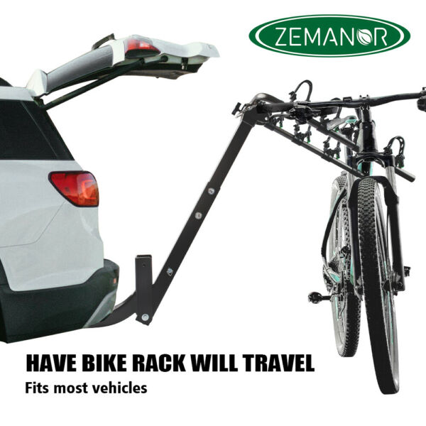 ZEMANOR 4 Hitch Mount Bike Rack Bicycle Carrier Cars Trucks SUV Strong All Steel $109.90