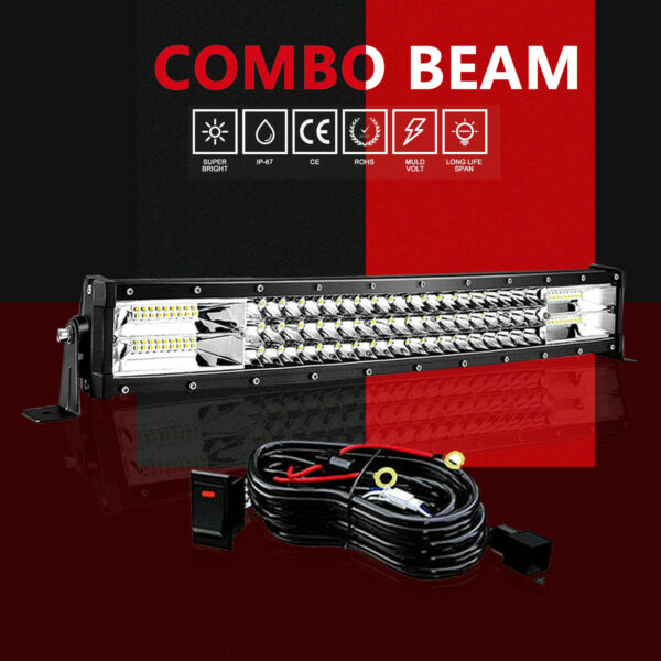 Slim 18quot; LED Light Bar Single Row ComboWire Offroad Driving Lamp SUV 4WD ATV 20
