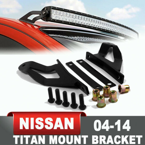 Steel Windshield Roof Mount Bracket For 2004 2014 Nissan Titan 50quot; LED Light Bar $17.99