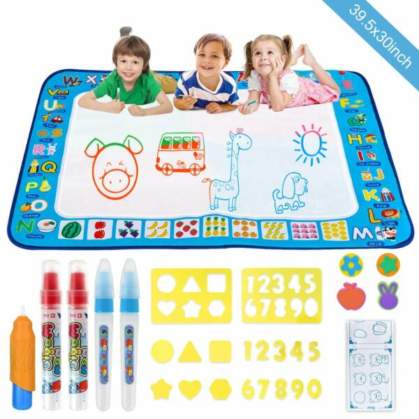 Extra Aqua Magic Water Drawing Painting doodle Mat Pad with 5 Water Pen Kid Toys $16.49