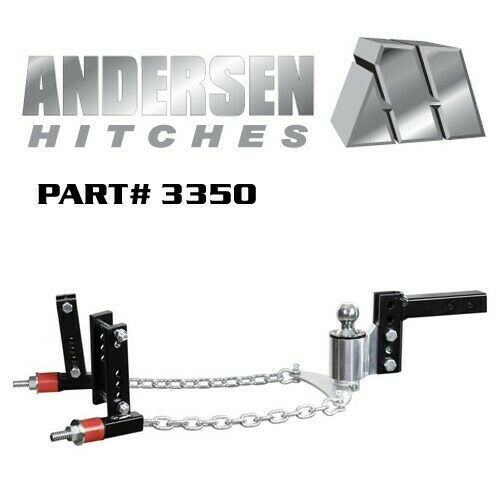 Andersen No Sway Weight Distribution Hitch 4quot; drop rise 2 5 16quot; ball 3quot; 6quot; Frame $599.99
