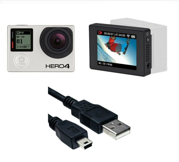 Used GoPro HERO 4 Black 4K 1080P Camera Camcorder LCD Touch Screen Bacpac combo