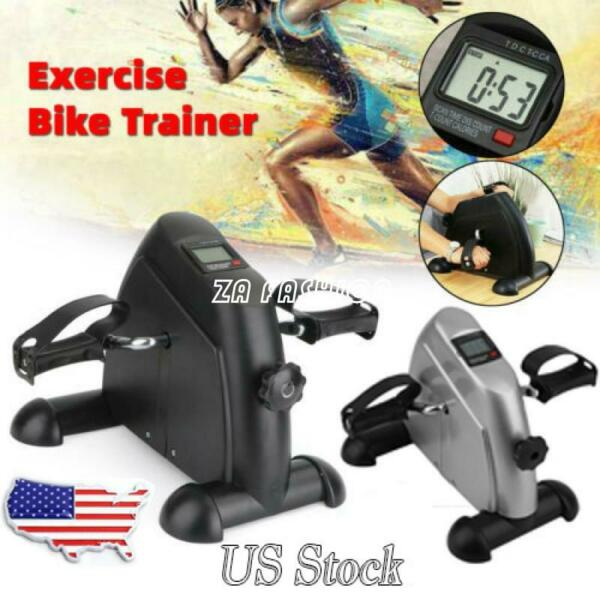 Exerciser Cycling Fitness Mini Stepper Pedal Exercise Bike 4 Legs w LCD Display $29.99
