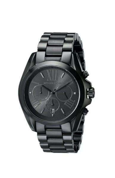 Michael Kors MK5550 Bradshaw Chronograph Black Stainless Steel Unisex Watch