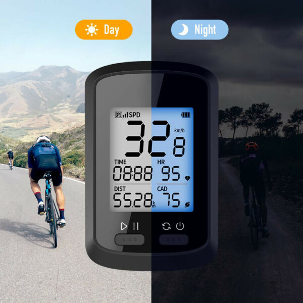 GPS Smart Bike Bicycle Cycling Computer Backlight For Monitoring Speed $33.30