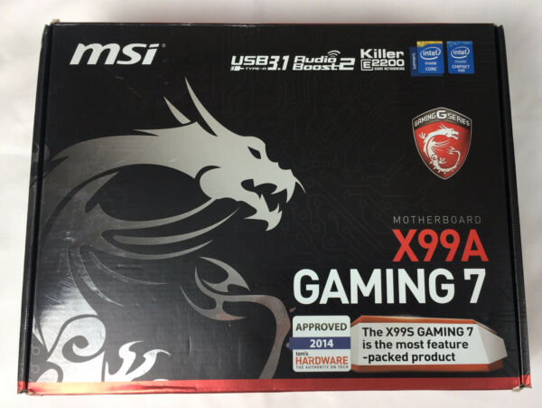 MSI X99A GAMING 7 LGA 2011 3 DDR4 Intel X99 SATA 6Gb s USB3.1 ATX Motherboard