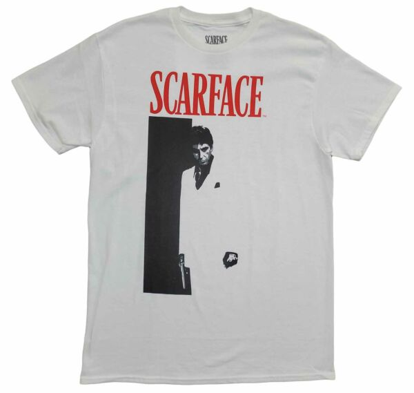 New Men#x27;s Scarface Movie Tony Montana Vintage Retro 80s White T Shirt Tee