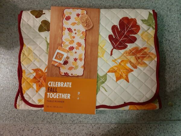 Thanksgiving Fall Table Runners 13quot; x 36quot; Brand New