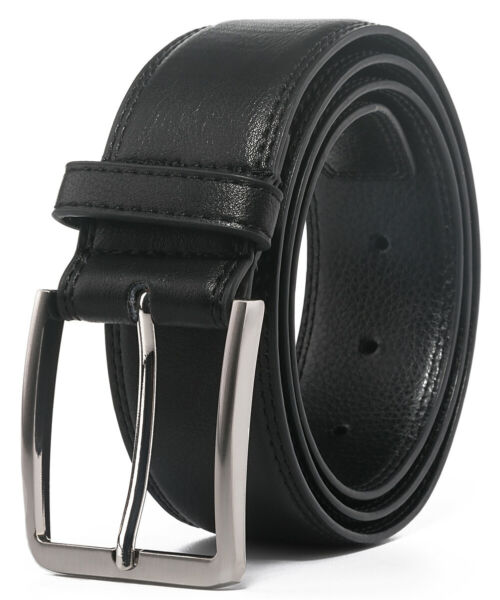 Men#x27;s Leather Dress Belt with Single Prong Buckle Belts for Men1.5 inch wide $10.99