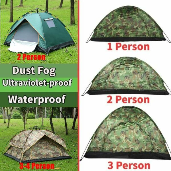 Waterproof 3 4 2 1 Person Automatic Instant Pop Up Outdoor Camping Tent Family $20.33