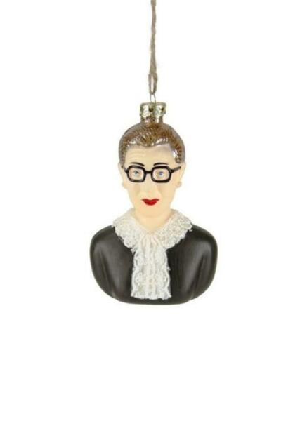 Cody Foster Ruth Bader Ginsburg SCOTUS Supreme Court Judge Christmas Ornament