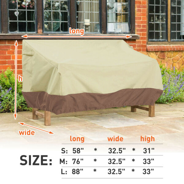 Patio Cover Outdoor Furniture Porch Sofa Waterproof Dust Proof Loveseat $28.31