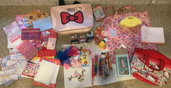 sanrio hello kitty Letter Sets Stationary Memo Books Bags Key Chains Lots