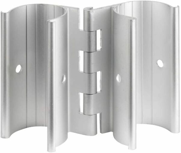 Aluminum Snap On Clamp Hinge for PVC Doors Vents or Gates Fits 3 4 Inch Pipe $13.75