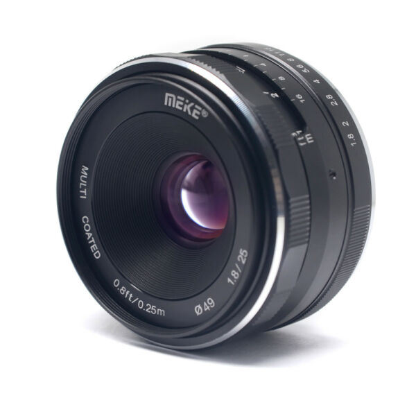 Meike 25mm F1.8 Large Aperture Wide Angle Lens Manual Focus Lens for Canon EOS M
