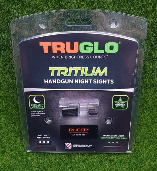 TruGlo Tritium Night Sight Set White Green Front amp; Rear for Ruger LC9 TG231R2 $42.19