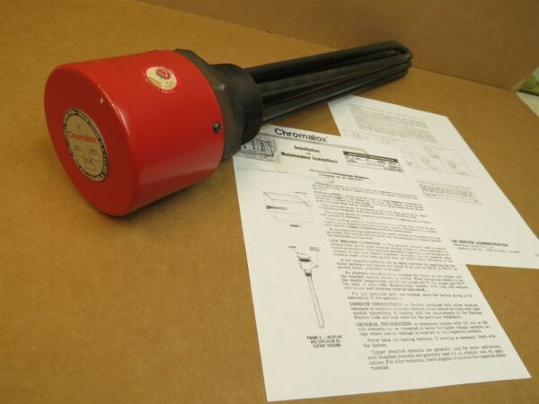New Chromalox MTO330A Immersion Heater 240V 3 Phase 3000 Watts MTO 330A $275.00