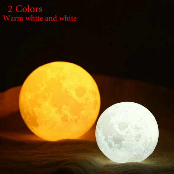 6#x27;#x27; Large Moon Lamp USB Night Light Lunar Touch Moonlight 3D Globe LED Lantern