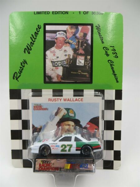 Racing Champions 1:64 Die Cast #27 Rusty Wallace 1989 Winston Cup Champion