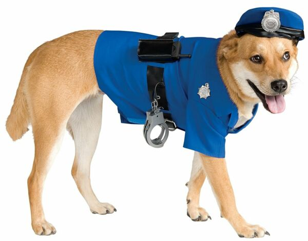 Police Dog Halloween Costume Pet Costumes Rubies Police Officer $20.99