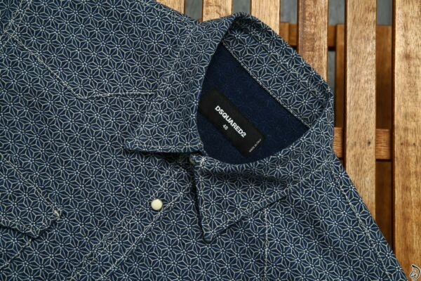 550$ Dsquared Shirt Pure Cotton 48 Blue Luxury $259.00