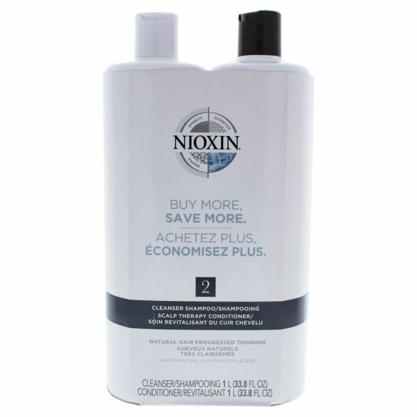 System 2 Cleanser Scalp Therapy Conditioner Duo by Nioxin for Unisex 33.8 oz $36.34