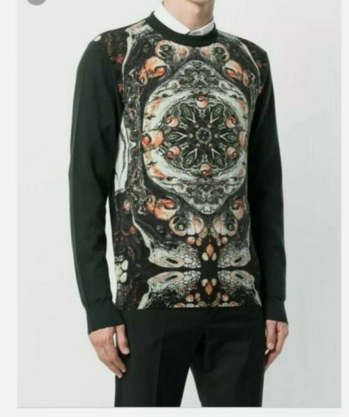 Frankie morello abstract wool sweater dsquared 2 size MEDIUM C1 $53.90