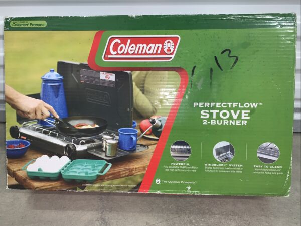 Coleman Perfect Flow 2 Burner Propane Stove Model 5466 700 Brand New