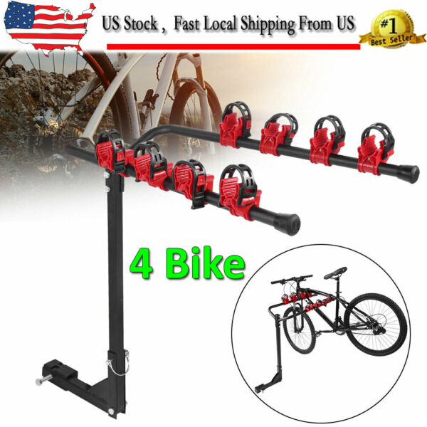 4 Bike Carrier Rack Hitch Mount Swing Down Receiver Bicycle For Car SUV Truck $52.63
