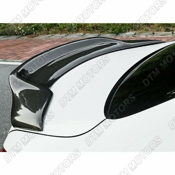 For 2008 2014 Mercedes C Class W204 PSM Sty Real Carbon Fiber Rear Trunk Spoiler $124.99