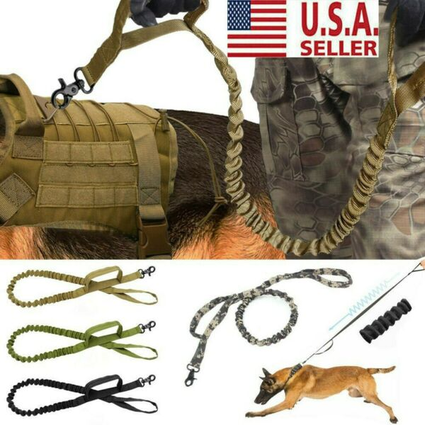 Retractable Nylon Rope Dog Leash Tactical K9 For Large Dog Heavy Duty Coupler US $8.99