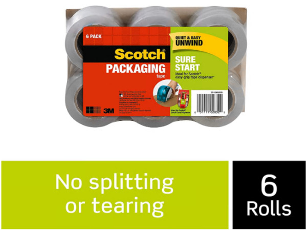 3M Scotch Sure Start Shipping Packaging Tape1.88 x 900quot; 6 Pack DP1000RF6 HOT $15.59