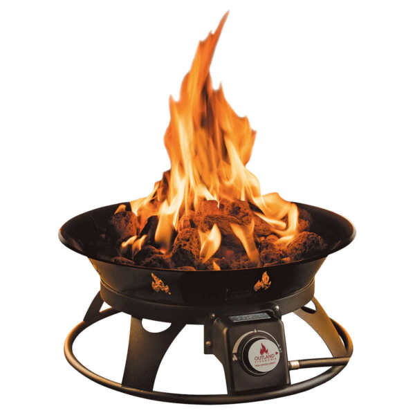 Outdoor Fire Pit Propane Gas Outland Firebowl Portable with Cover Yard Garden