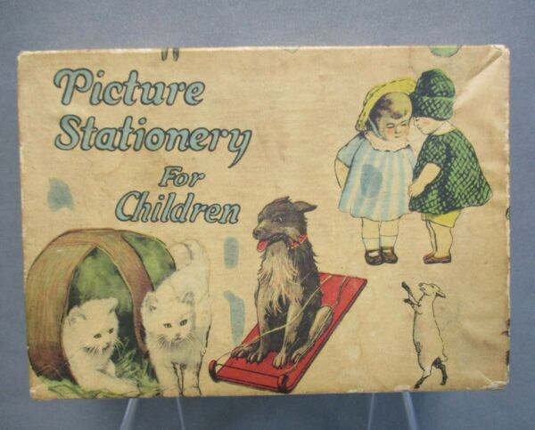 Antique PICTURE STATIONARY FOR CHILDREN in Box $39.00