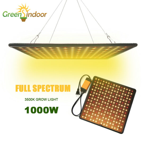 1x 1000W LED Grow Light Full Spectrum for Indoor Flower Bloom Hydroponic Plant